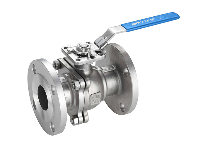 2PC Flanged Ball Valve With High Mounting